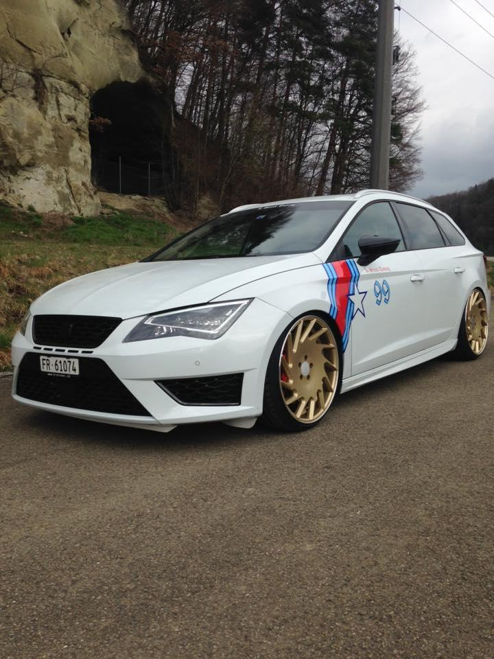 seat leon st tuning seat leon st fr mit vossen wheels cv7. Black Bedroom Furniture Sets. Home Design Ideas